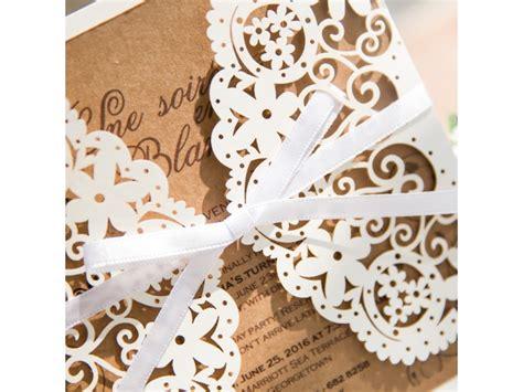 Hochzeitskarten Einladung Vintage by Hochzeitseinladungen Quot Vintage Mit Edlem Lasercut Quot