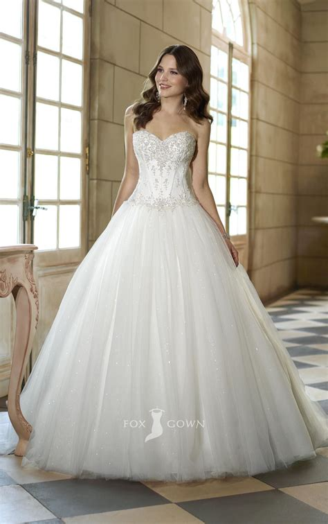 elegant strapless corset wedding ball gowns ipunya
