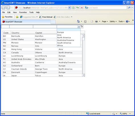 Grid Layout Gwt | grid live filter sle smart gwt table filter sorter