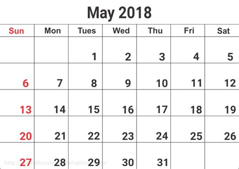 May 2018 Calendar Google Sheets Templates Calendarbuzz Sheets Calendar Template 2018