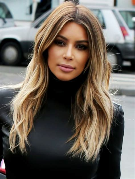kim kardashian blonde balayage highlights photos le balayage californien photos techniques et les
