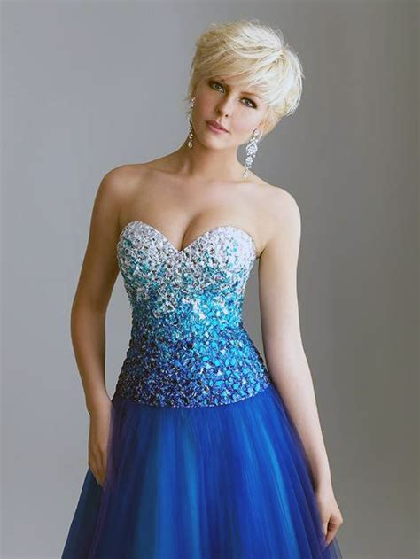 Prom Dress Blue Short Pictures : Fashion Gallery