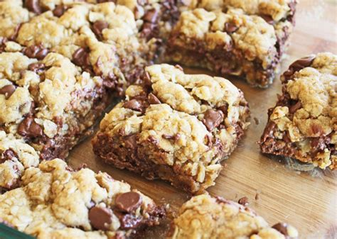 chewy chocolate chip oatmeal bars and 17 chocolate chip