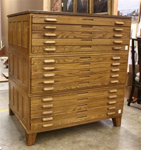 Architect Cabinet by 186 Architect S Oak Flat File Cabinet Lot 186