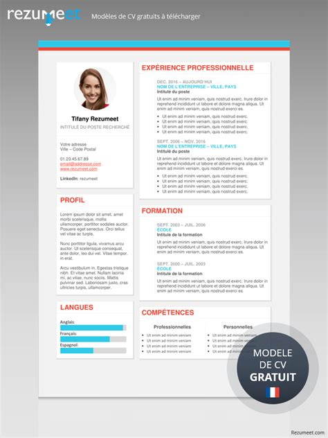 Cv Curriculum Vitae Gratuit by The Plateau Mod 232 Le De Cv Moderne