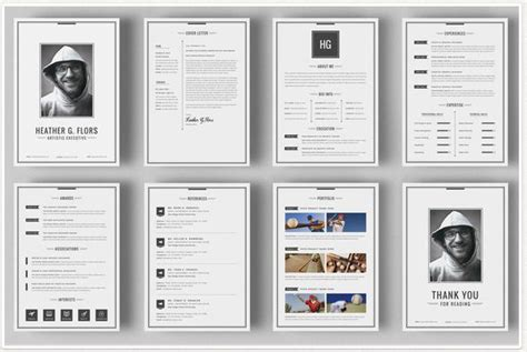layout portfolio word modern resume templates docx to make recruiters awe