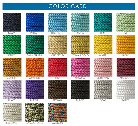 color card twisted cords on spools tassel depot
