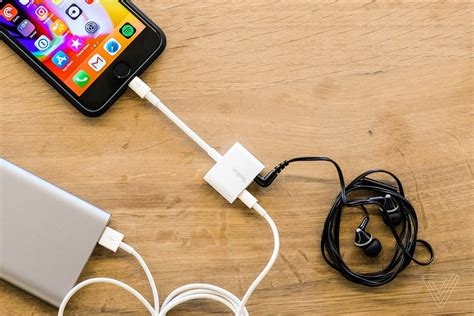 iphone dongle apple now sells an iphone dongle with a headphone and charging port the verge