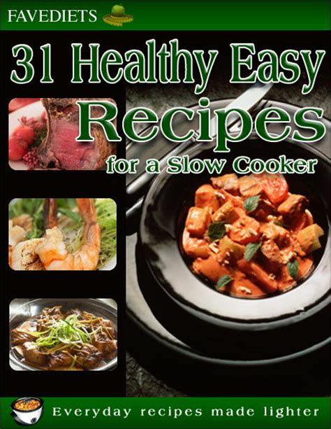 cooker cookbook healthy crock pot recipes with smart points for rapid weight loss books 31 healthy easy recipes for a cooker free ecookbook