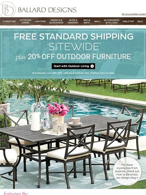 ballard designs free shipping ballard designs beat the summer heat with sitewide free