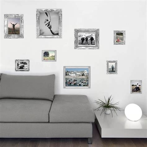 wall sticker picture frames silver floral photo frames wall stickers gettingpersonal co uk