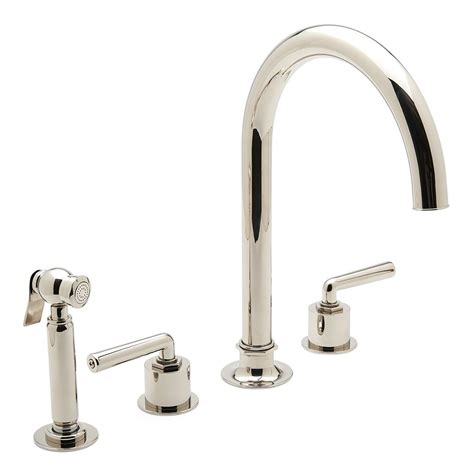 gooseneck kitchen faucets unlacquered brass gooseneck kitchen faucet