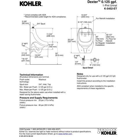 Kitchen Collection Coupon by Kohler K 5452 Et 0 Dexter White Urinals Efaucets Com
