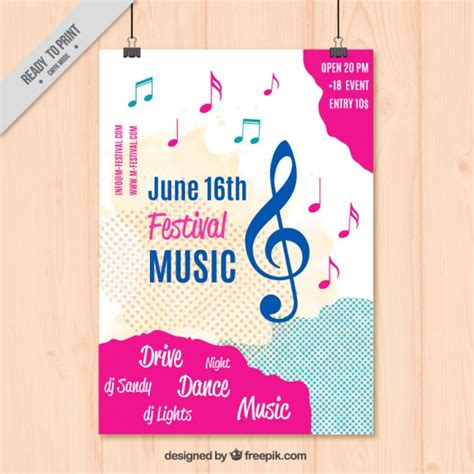 music poster template vector free download