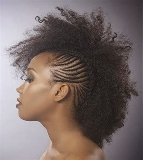 braided mohawk hairstyle best curly hair to use exotic mohawk hairstyles for black women