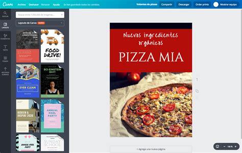 pizza volante crea tus propios volantes de pizza gratis canva