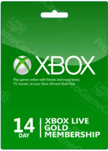 Xbox Live Membership Gift Card - xbox live 14 day gold membership gift code 2 weeks card