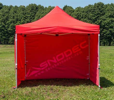 gazebo pieghevole prezzi gazebo pieghevole 3x3 rosso acciaio 30mm con teli laterali