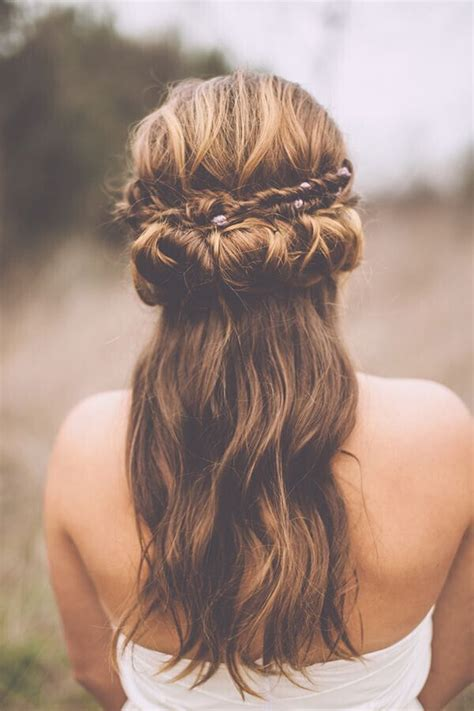 bohemian wedding hairstyles for hair 15 half up half wedding hairstyles for trendy