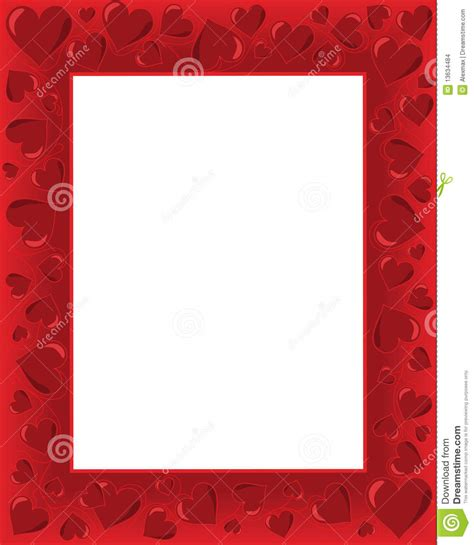 appreciation letter borders valentines card stock images image 13634484