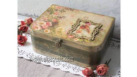 tutorial decoupage shabby chic decoupage box tutorial diy how to use french gilding