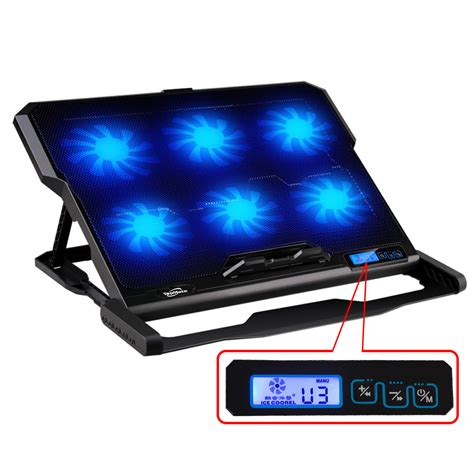 laptop stand with fan laptop cooler 2 usb ports and six fan laptop