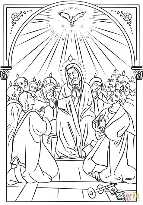 holy spirit pentecost coloring pages pentecost icon coloring page free printable coloring pages