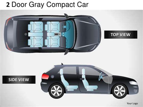 2 door compact cars 2 door gray compact car top view powerpoint presentation