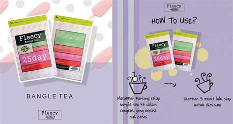 Teh Fleecy Asli review fleecy bangle tea asli teh pelangsing badan