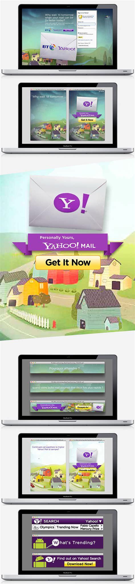 bt yahoo mail page layout yahoo on behance