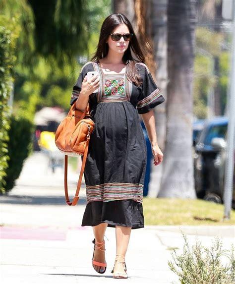 rachel bilson pregnant pregnant rachel bilson out shopping in studio city
