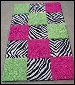 Lime Green Zebra Rug by Keely S Room On