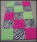 lime green zebra rug keely s room on