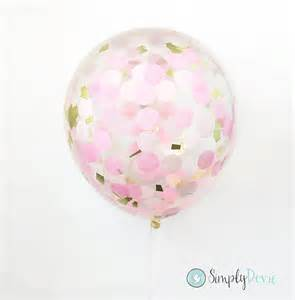 Expressions Home Decor 12 quot pink amp gold confetti balloons customize your