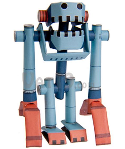 Make A Paper Robot - piperoid paper pipe robots craft robots made entirely