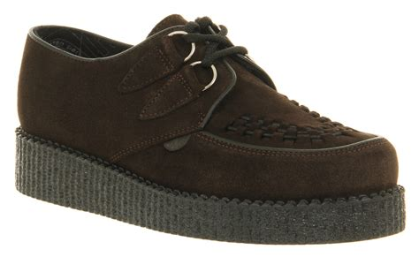 mens underground wulfrun creeper brown suede casual shoes