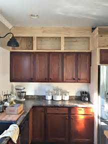 Adding Cabinets Above Kitchen Cabinets by Building Cabinets Up To The Ceiling From Thrifty Decor