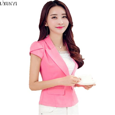 korean women short sleeve blazer popular hot pink blazer buy cheap hot pink blazer lots