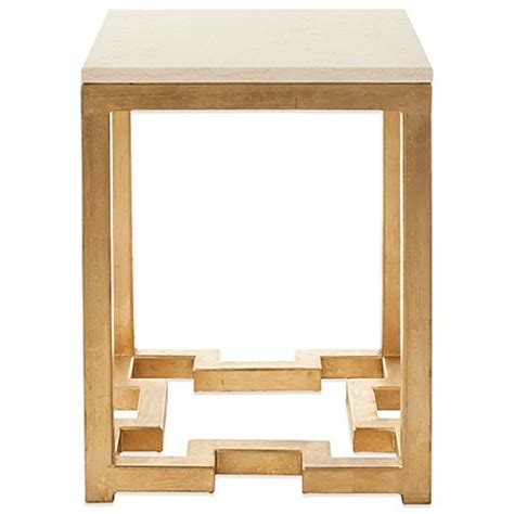 ivory accent table safavieh ray accent table in gold ivory bed bath beyond