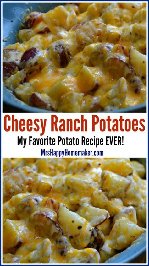 8 Awesome Potato Recipes To Try by Cheesy Ranch Potatoes My Favorite Potato Recipe