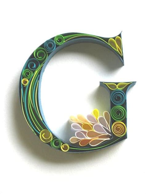 typography quilling tutorial beautiful paper quilling letter patterns by sabeena karnik