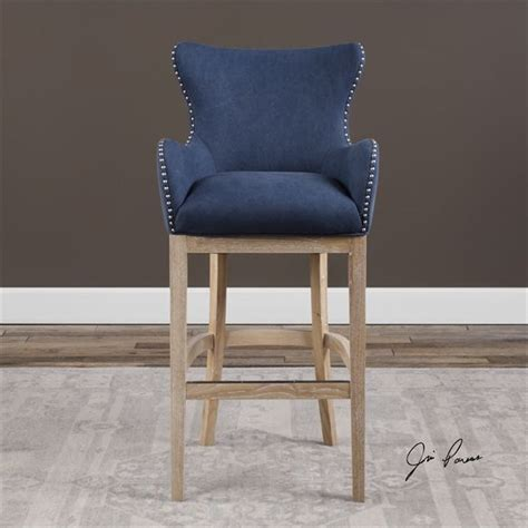 Blue Suede Bar Stools by Norwalk Blue Suede Bar Stool We This For A High Top