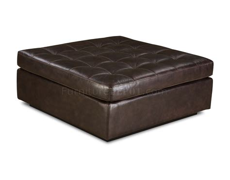 Chicory Brown Tufted Top Grain Leather Modern Sectional Sofa Tufted Leather Sectional Sofa