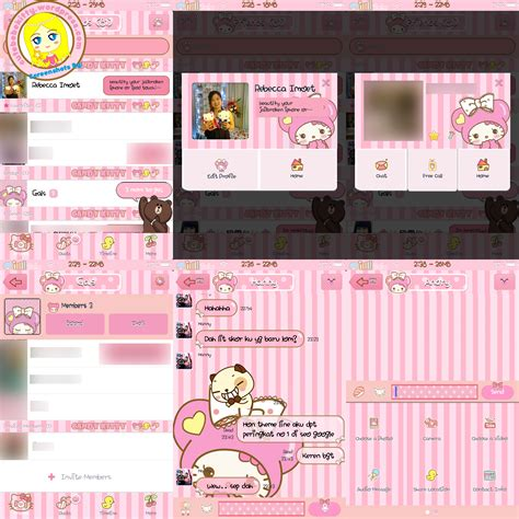 themes line hello kitty candy kitty line theme ver 3 7 updated cute bebe kitty