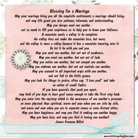 Wedding Blessing For My by Blessing For A Marriage Poem Weddings Events