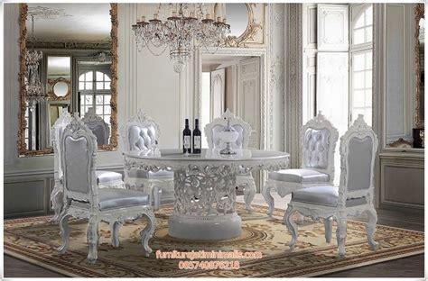 Kursi Ukir Jepara kursi makan ukir warna putih duco kursi makan kursi