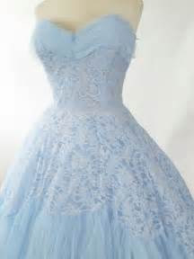 1950 s informal wedding dresses 50s strapless baby blue lace tulle tea