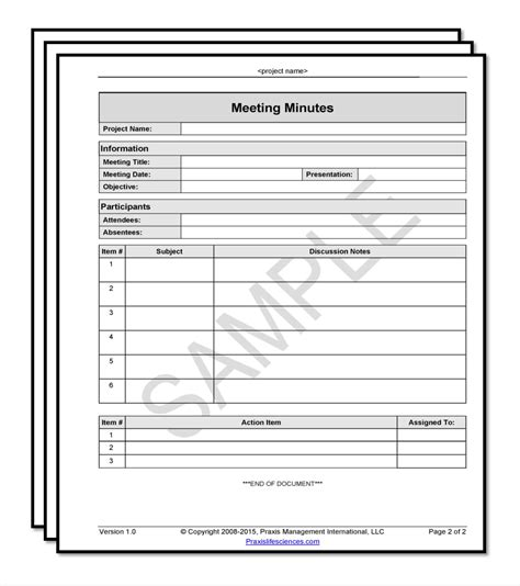 Meeting Minutes Template Fda Software Validation Templates