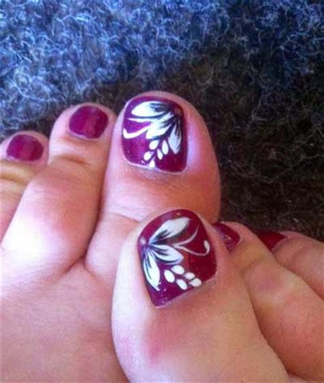flower design for toes cute toenail designs beauty of floral nail art