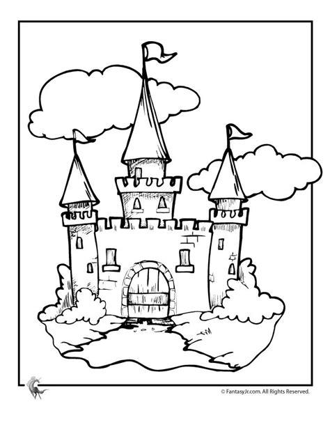 Castle Coloring Pages Fairy Tale Castle Coloring Page